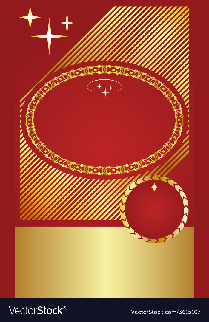 Golden vintage template vector | Price: 1 Credit (USD $1)