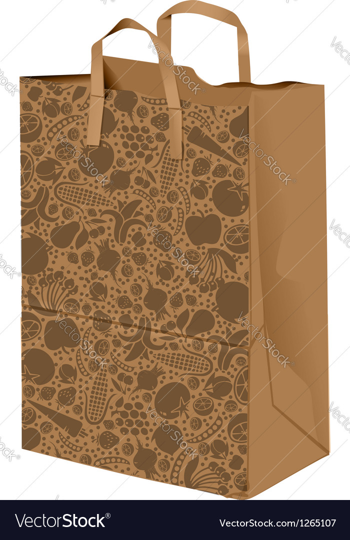 Grocerie paper bag vector | Price: 1 Credit (USD $1)