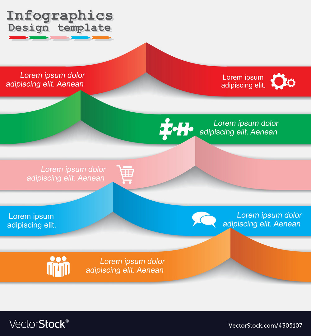 Infographic report template with text and icons vector | Price: 1 Credit (USD $1)