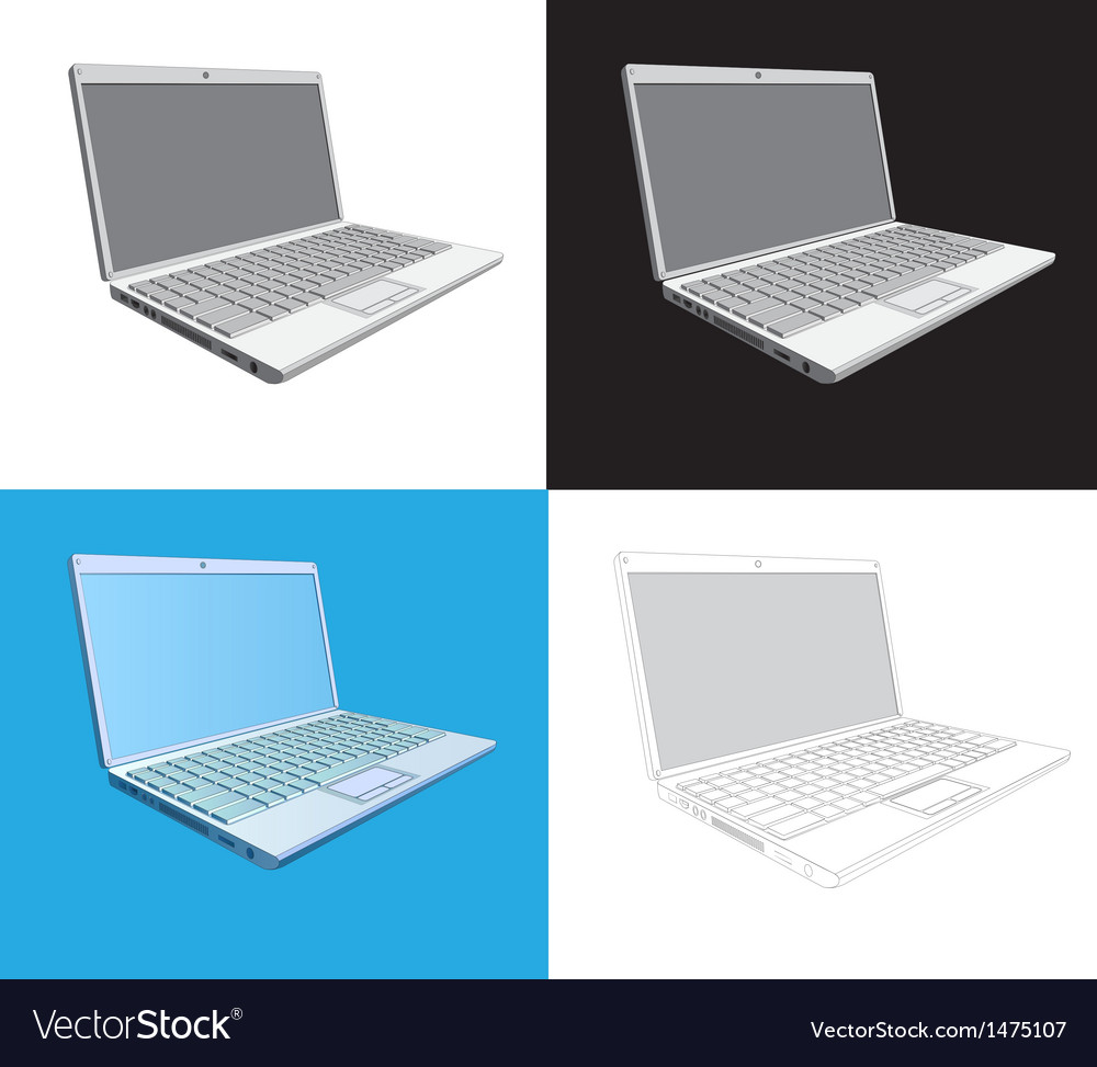 Laptop computer vector | Price: 1 Credit (USD $1)