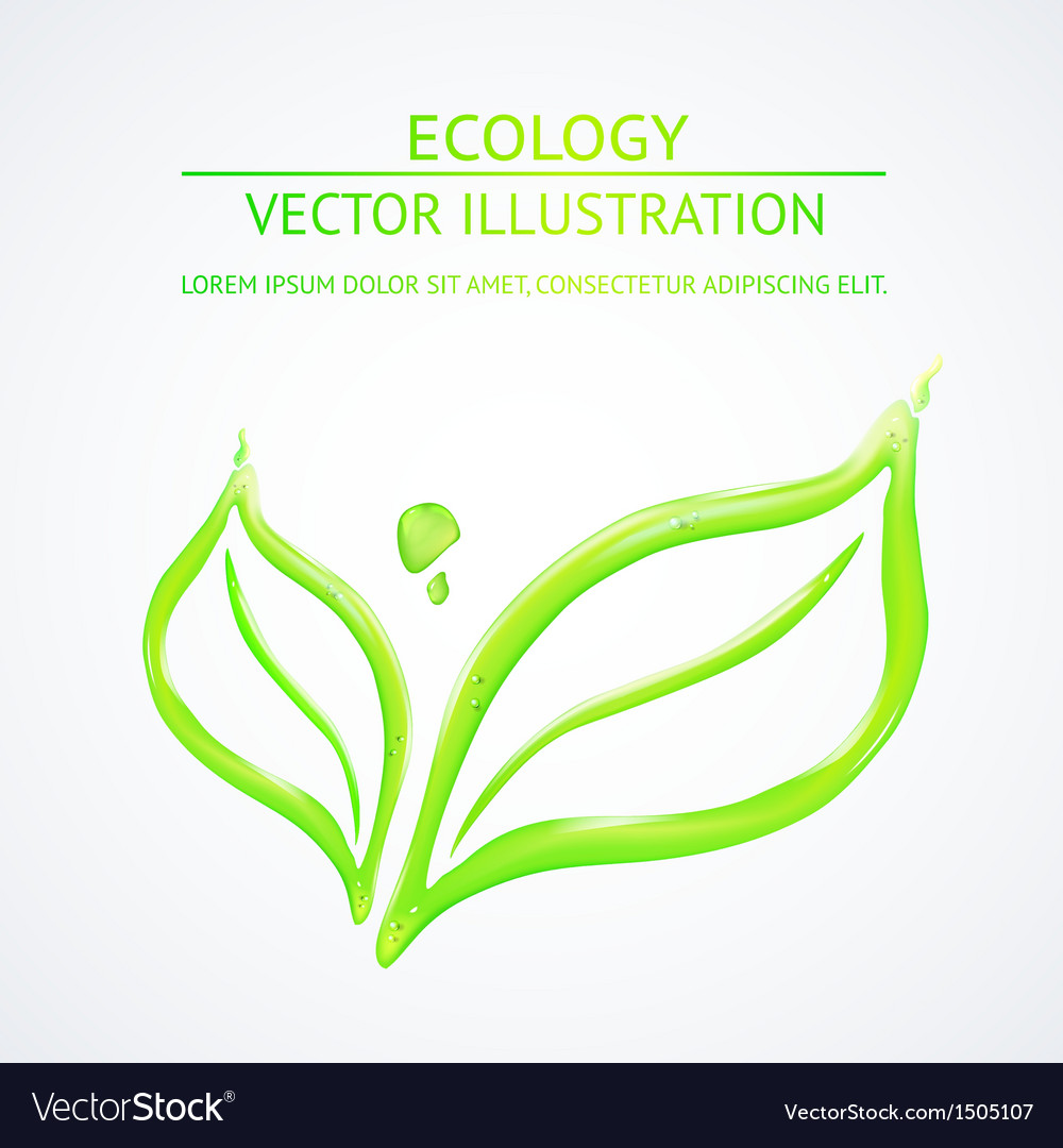 Liquid green leaves vector | Price: 1 Credit (USD $1)