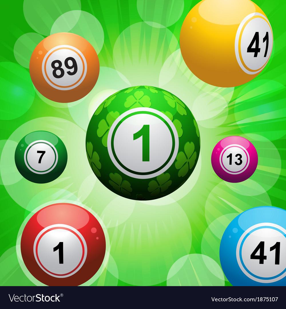 Lucky clover bingo ball burst vector | Price: 1 Credit (USD $1)