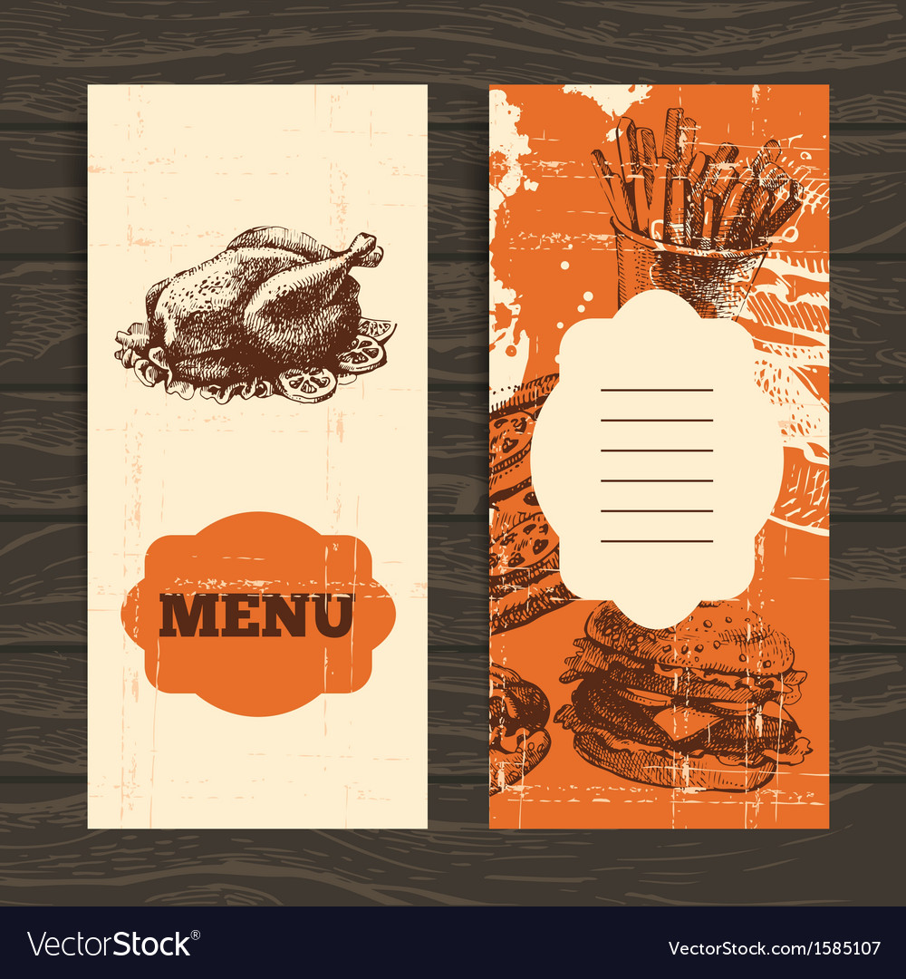 Menu for restaurant cafe bar coffeehouse vector | Price: 1 Credit (USD $1)