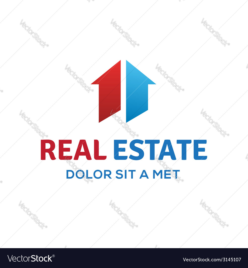 Number one 1 real estate sign logo icon design vector | Price: 1 Credit (USD $1)