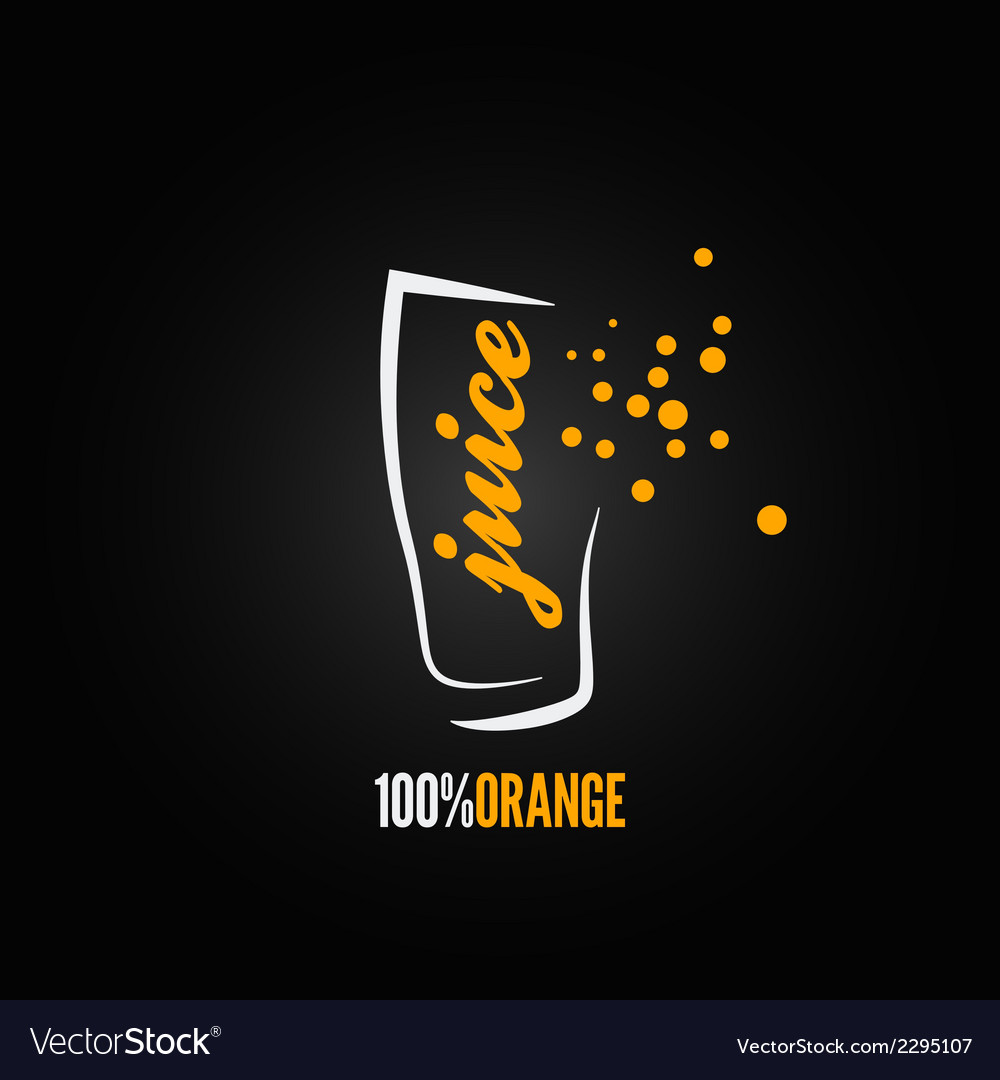 Orange juice splash glass design background vector | Price: 1 Credit (USD $1)