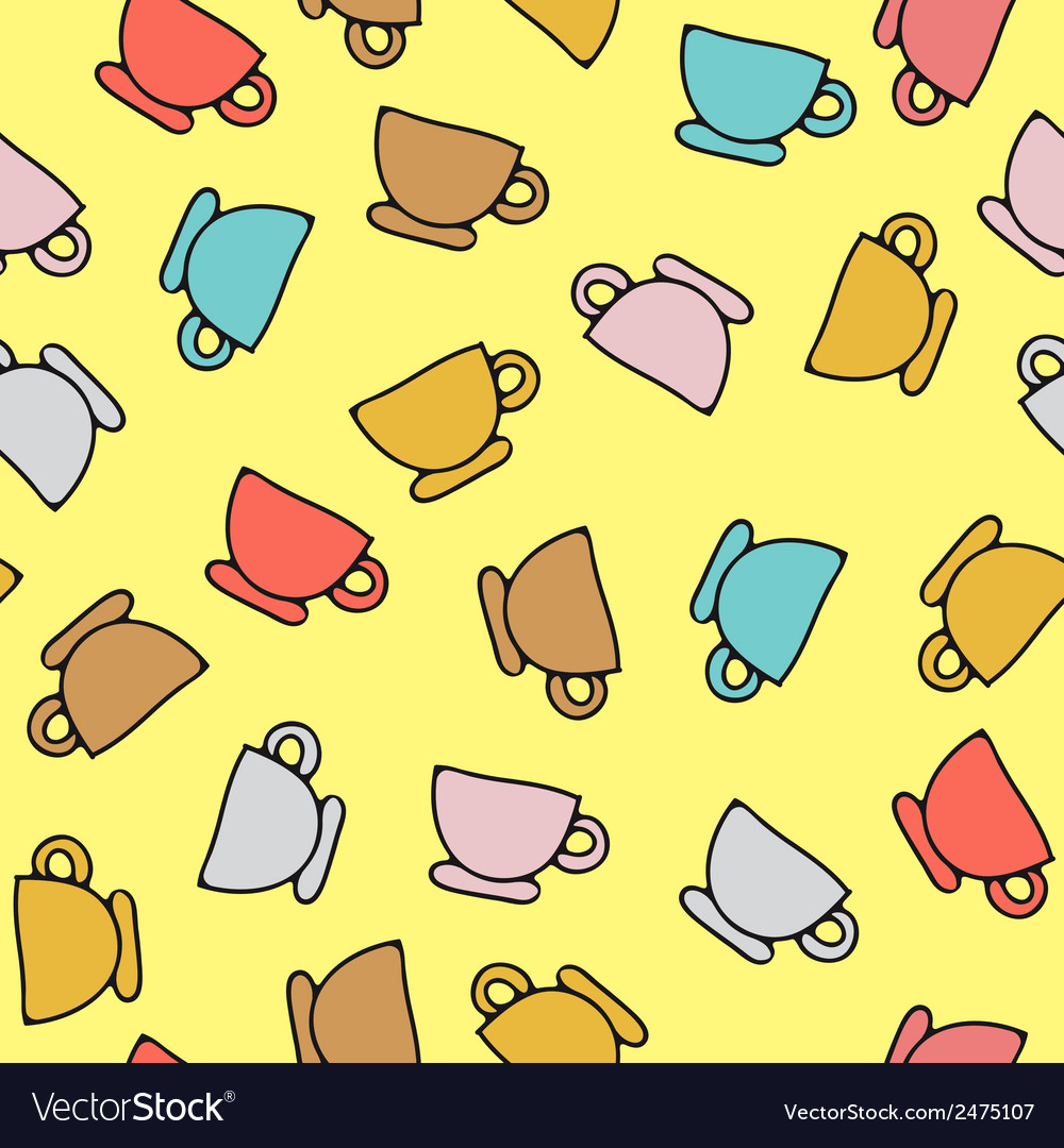 Seamless pattern of cups vector | Price: 1 Credit (USD $1)