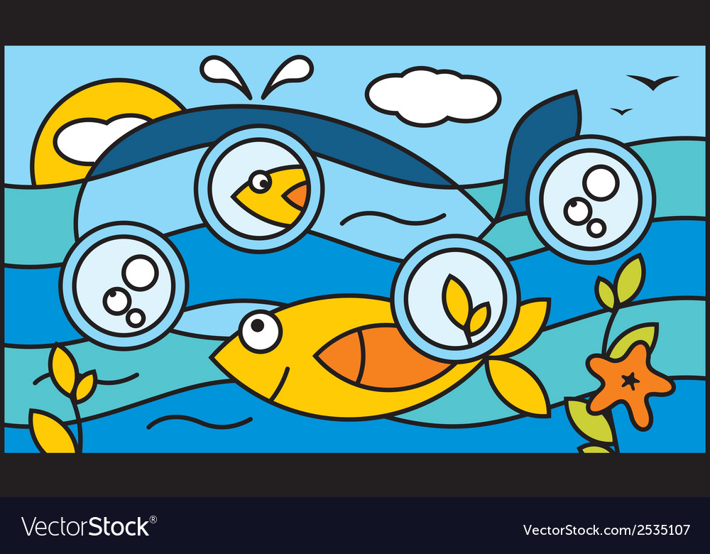 Underwater world background vector | Price: 1 Credit (USD $1)