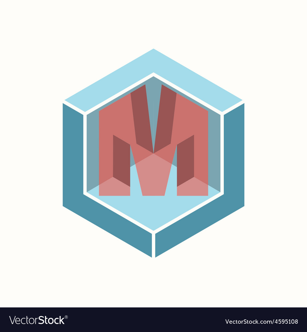 3d letter m logo icon design template element vector | Price: 1 Credit (USD $1)