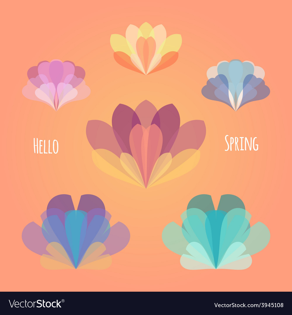 Abstract flower spring background eps 10 vector | Price: 1 Credit (USD $1)