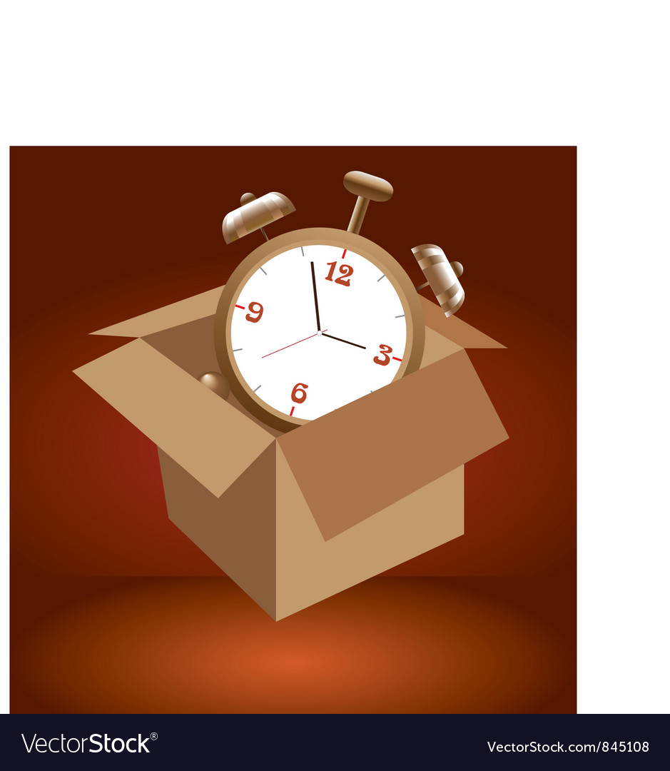 Alarm clock in box vector | Price: 1 Credit (USD $1)