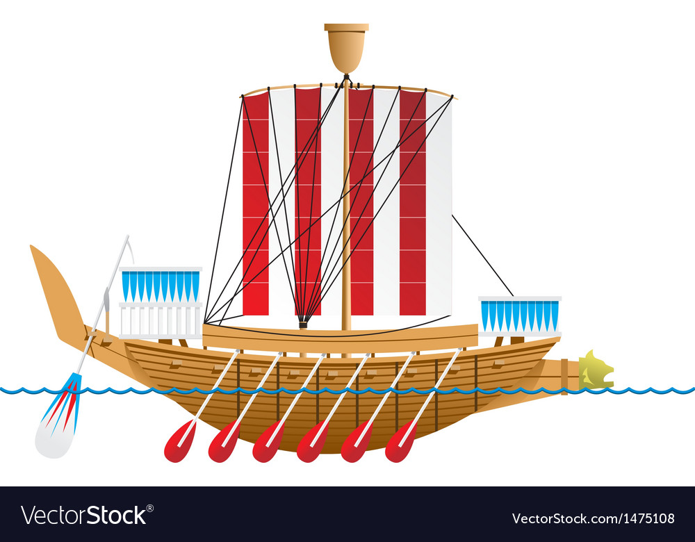 Ancient egyptian warship vector | Price: 1 Credit (USD $1)