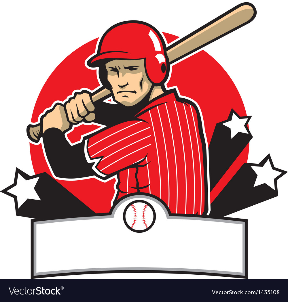 Baseball player ready to hit vector | Price: 1 Credit (USD $1)