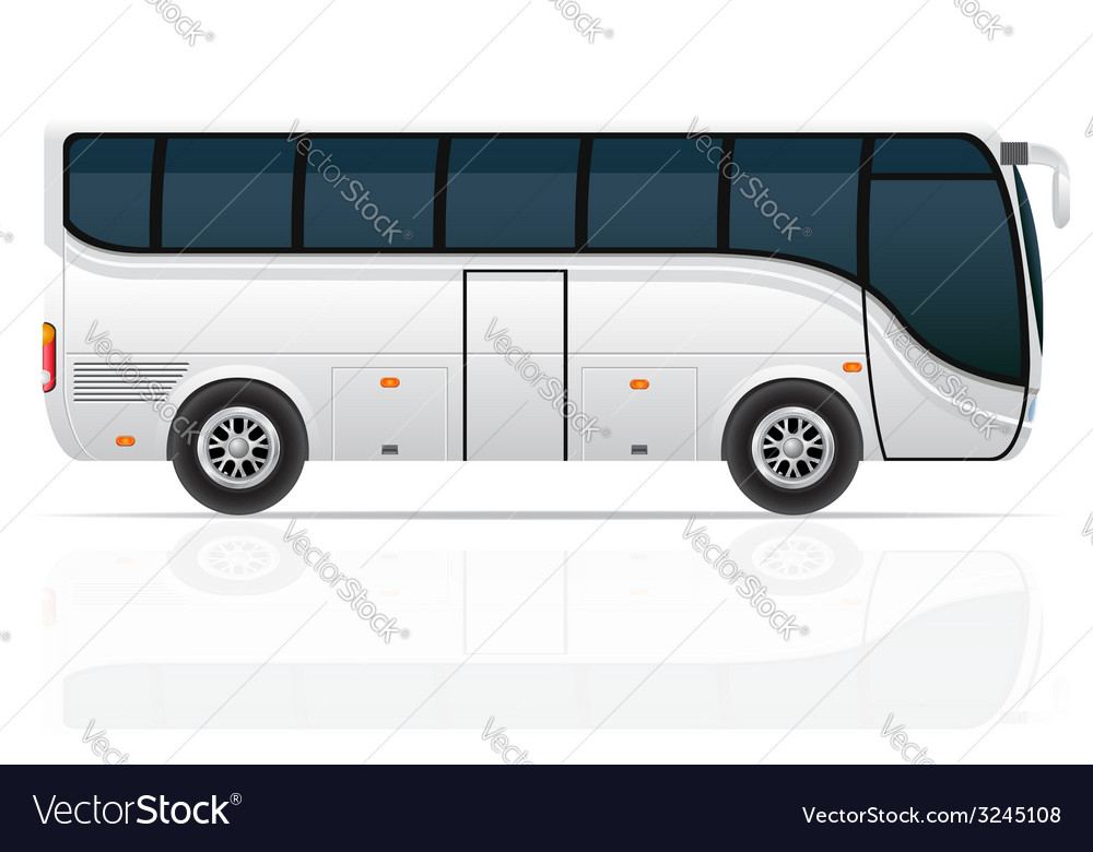 Big tour bus 04 vector | Price: 3 Credit (USD $3)