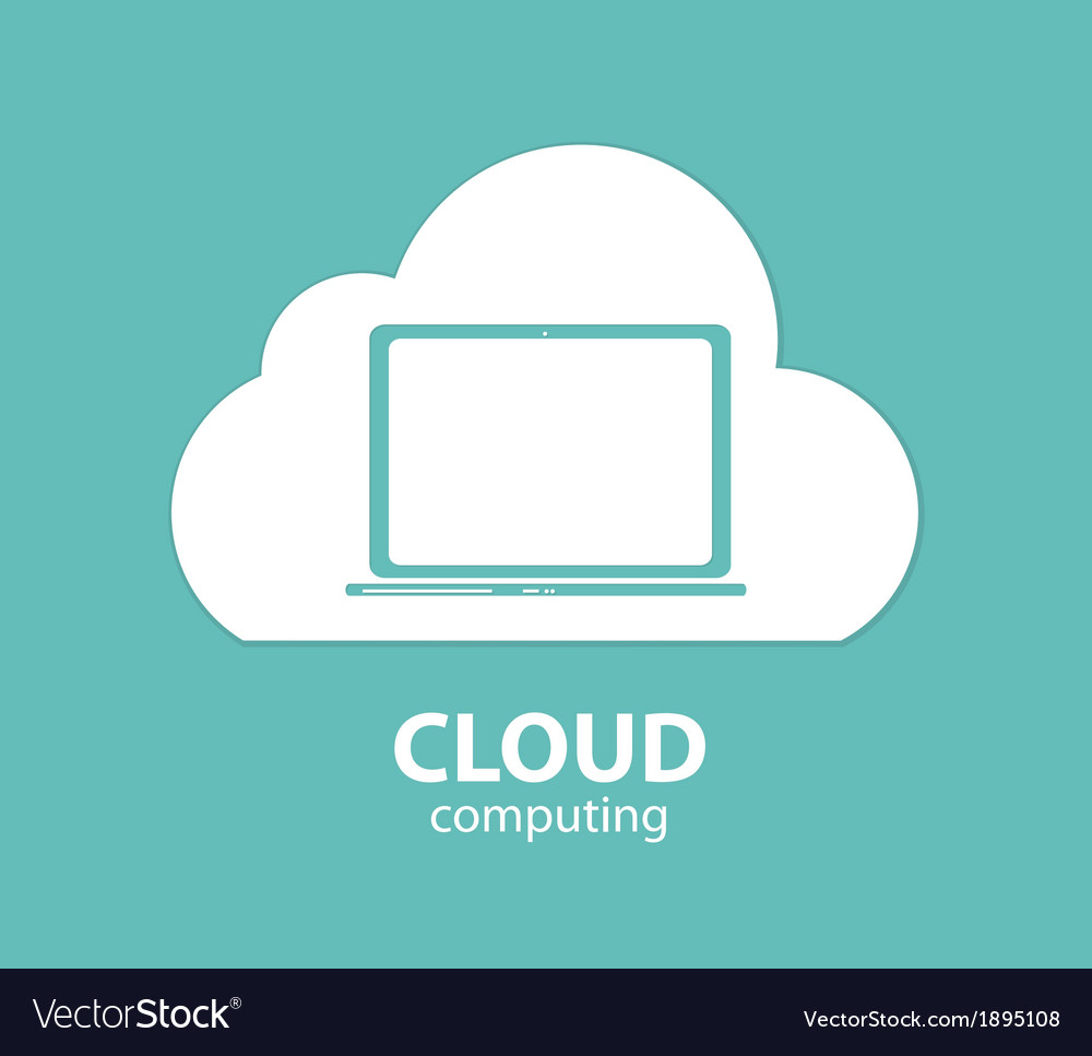 Cloud computing concept on different electronic vector | Price: 1 Credit (USD $1)