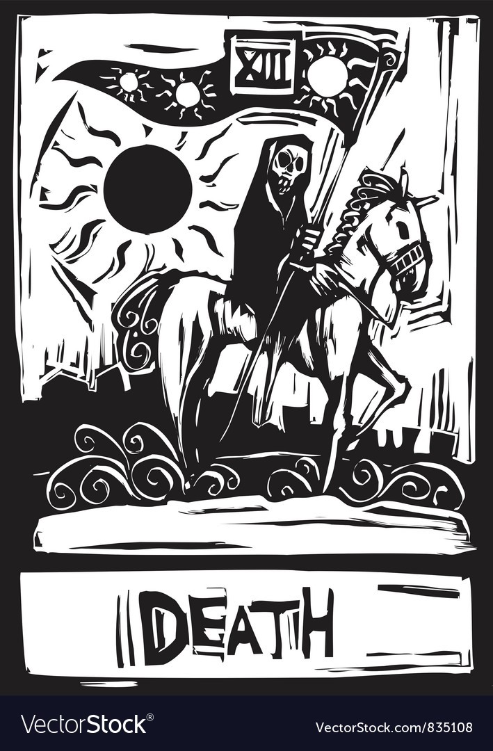 Death tarot vector | Price: 1 Credit (USD $1)