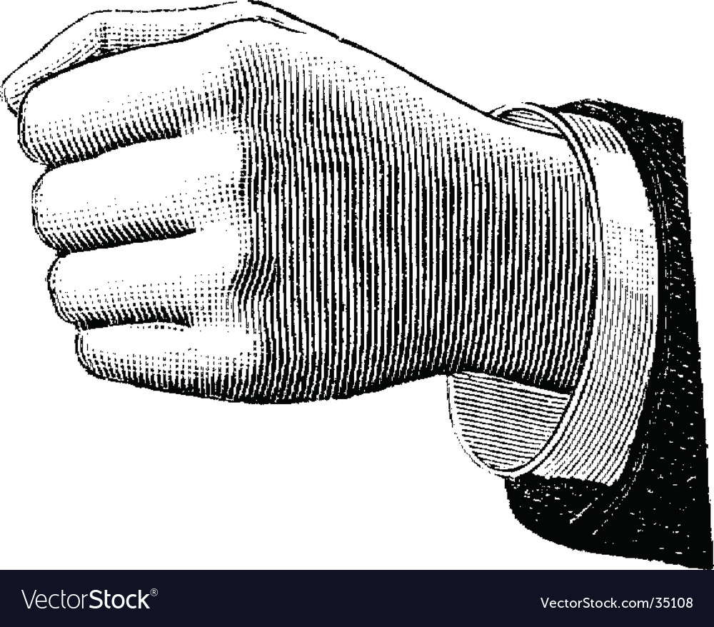 Fist vector | Price: 1 Credit (USD $1)