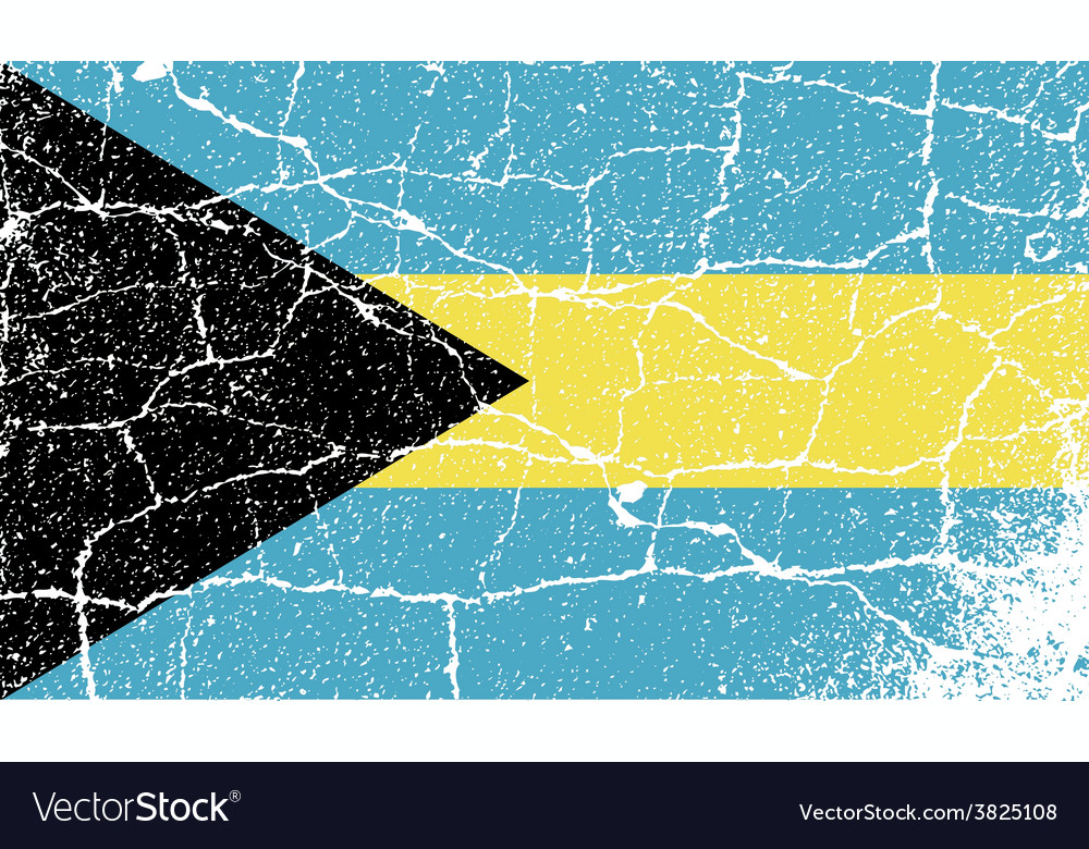Flag of bahamas with old texture vector | Price: 1 Credit (USD $1)