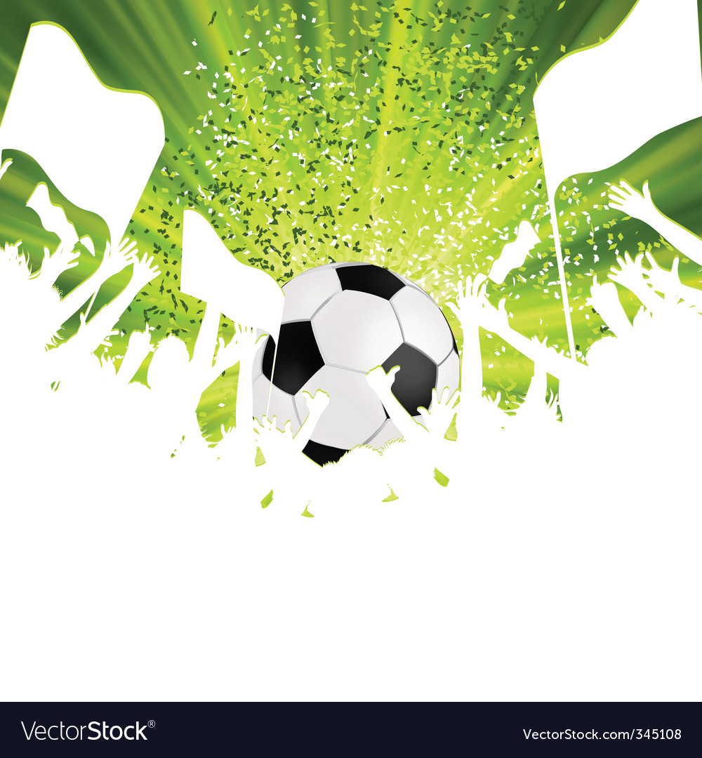Football fans crowd vector | Price: 1 Credit (USD $1)