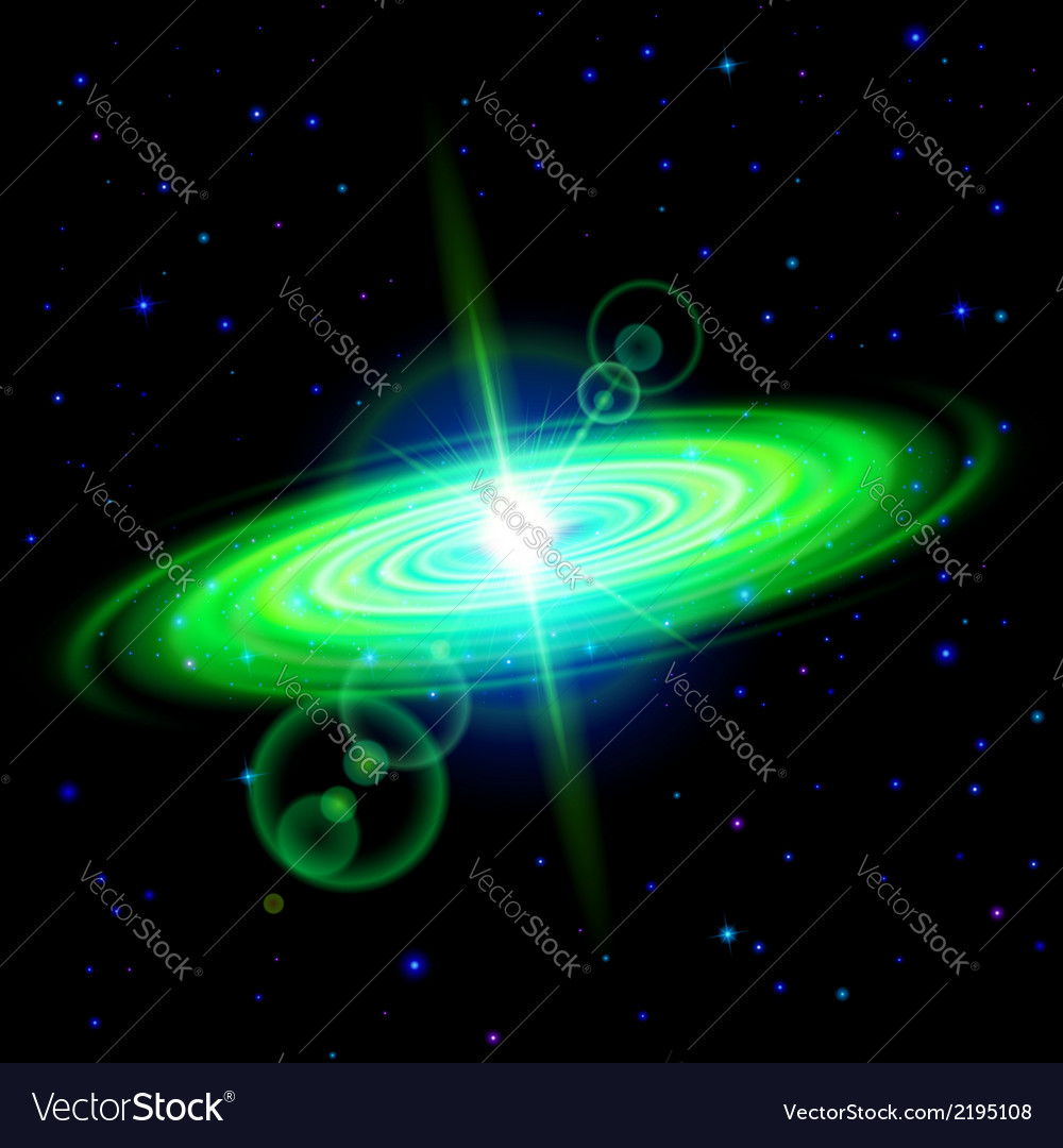Green galaxy vector | Price: 1 Credit (USD $1)