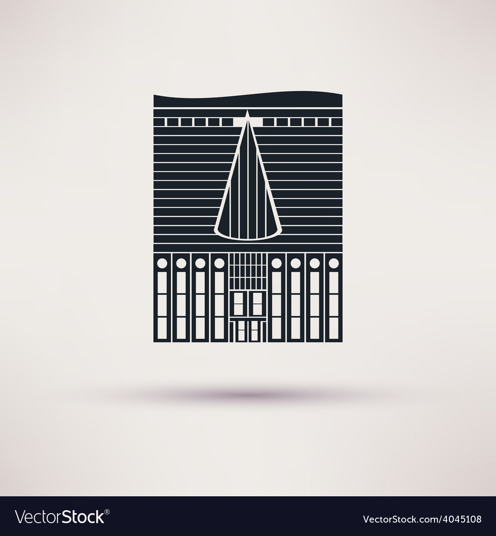 Inn building icon in the flat style vector | Price: 1 Credit (USD $1)