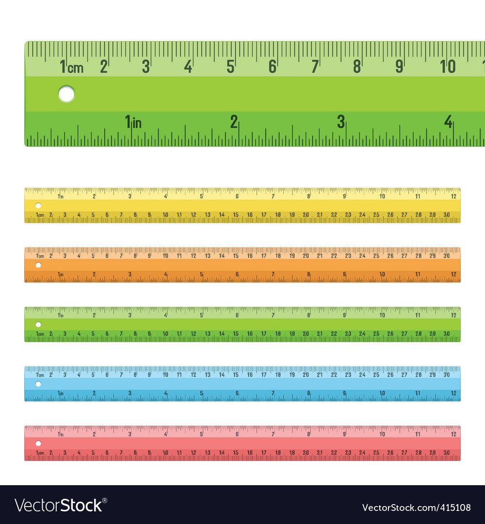 Rulers in centimeters  inches vector | Price: 1 Credit (USD $1)