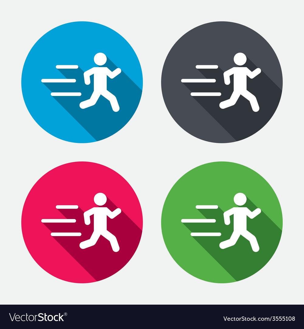 Running sign icon human sport symbol vector | Price: 1 Credit (USD $1)