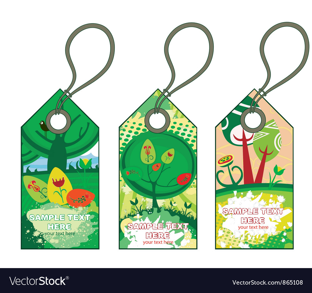 Spring shopping tags set vector   Price: 1 Credit (USD $1)