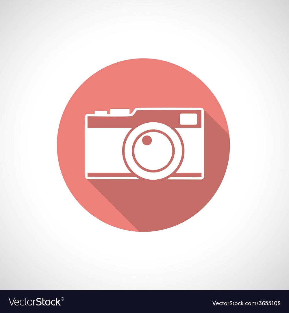 Vintage camera icon vector | Price: 1 Credit (USD $1)