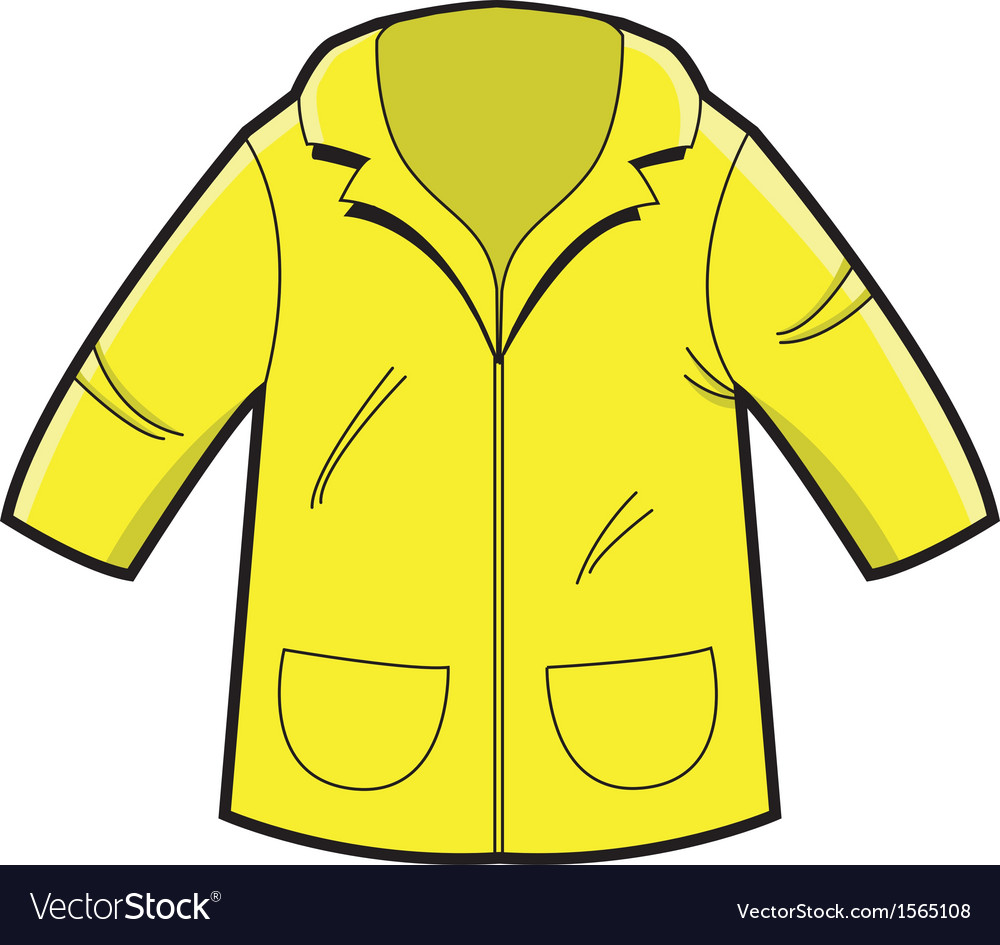 Yellow rain coat vector | Price: 1 Credit (USD $1)