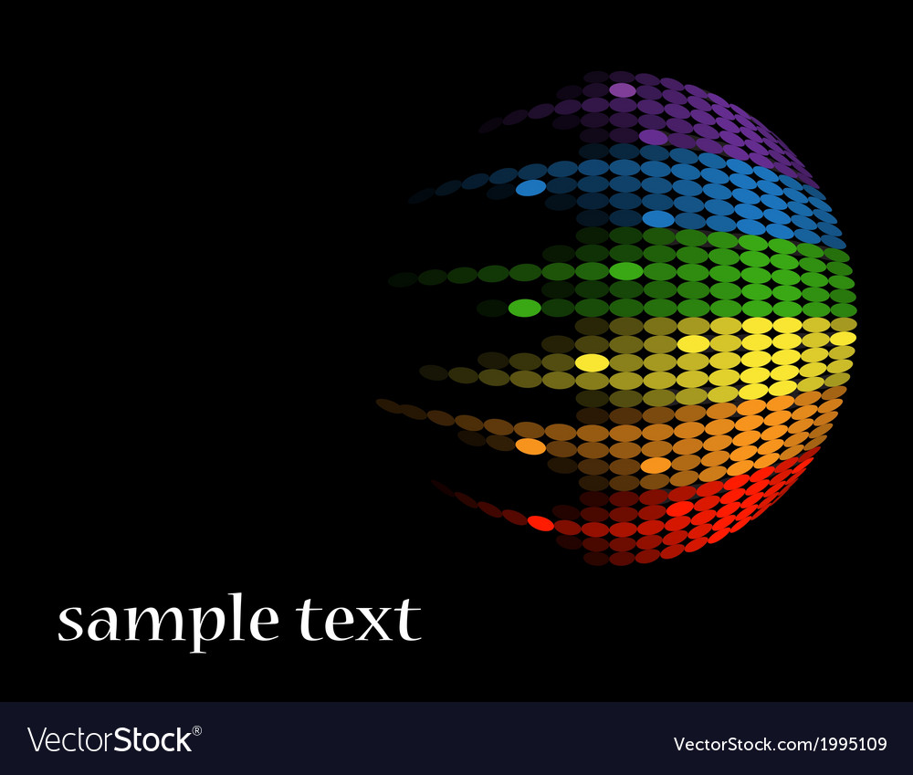 Black background with multicolored round equalizer vector | Price: 1 Credit (USD $1)