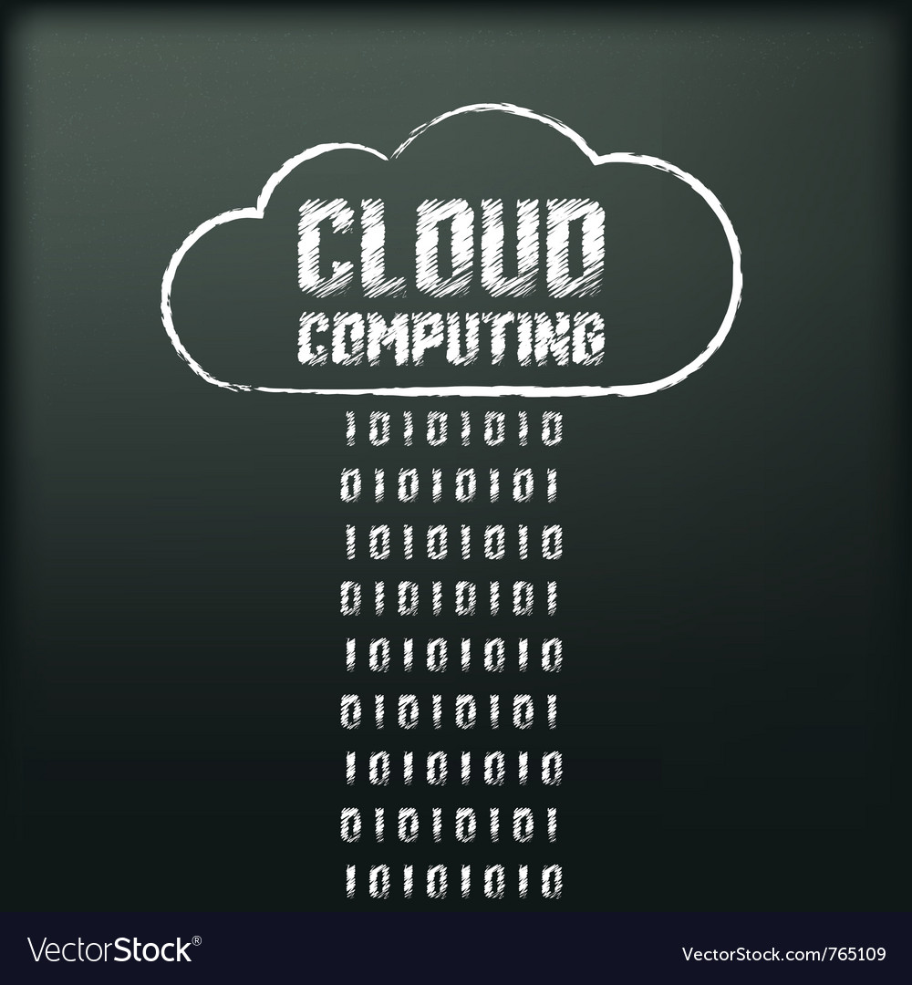 Blackboard with image of cloud computing vector | Price: 1 Credit (USD $1)