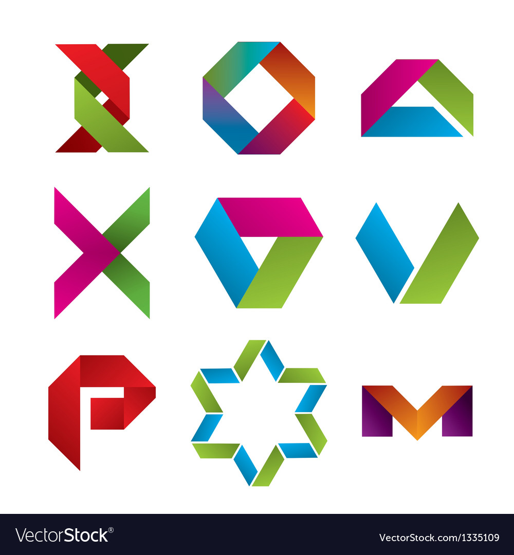 Collection of abstract icons of tape vector | Price: 1 Credit (USD $1)