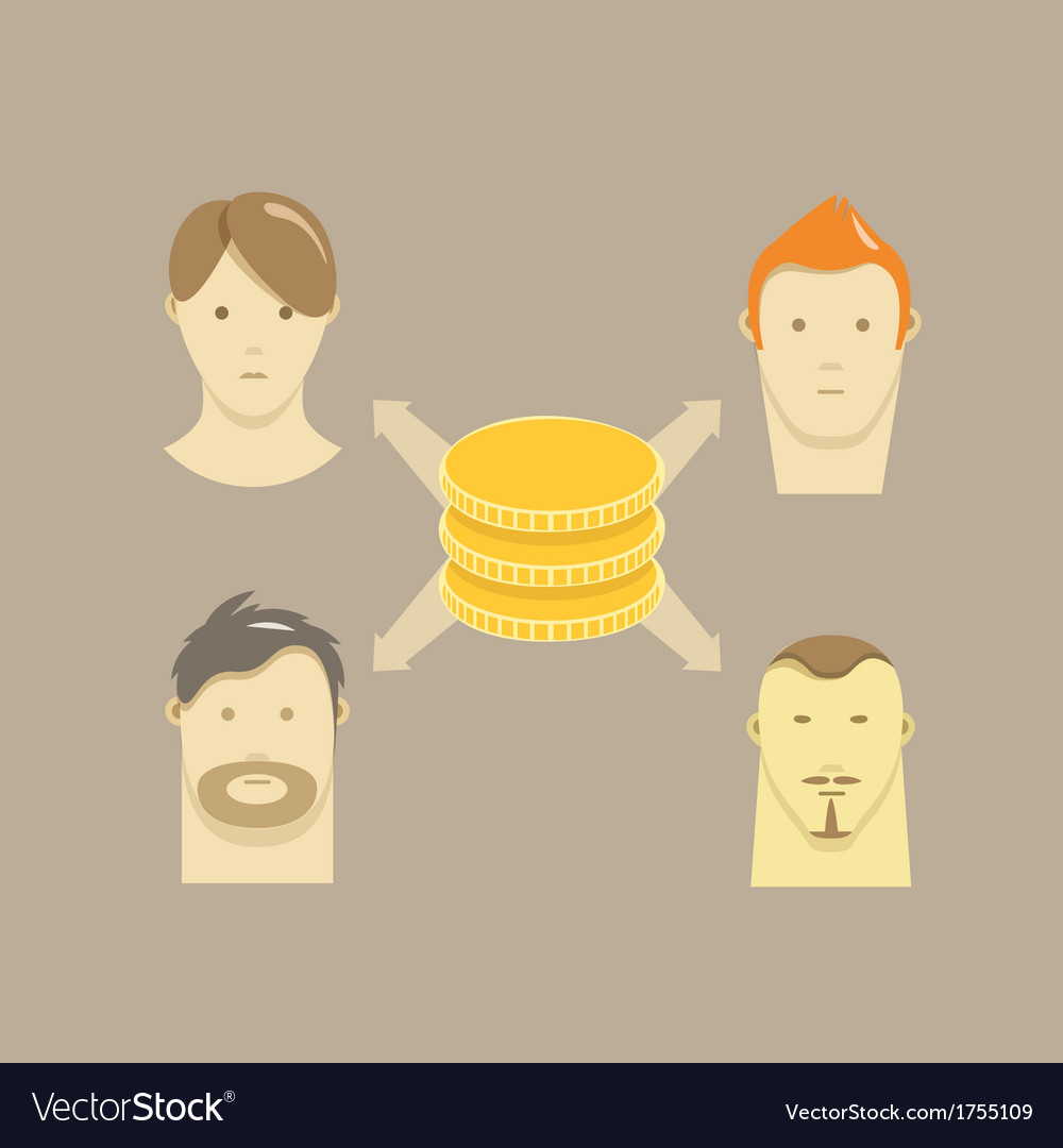Distribution of money illstration vector | Price: 1 Credit (USD $1)