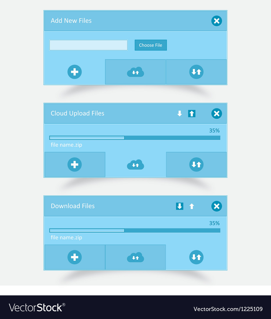 Download upload and cloud download upload ui vector | Price: 1 Credit (USD $1)