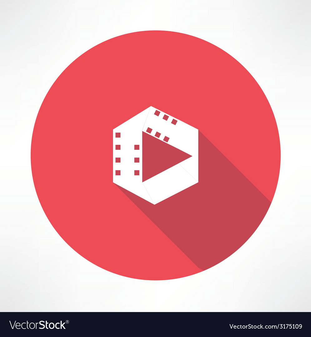 Film play icon vector | Price: 1 Credit (USD $1)
