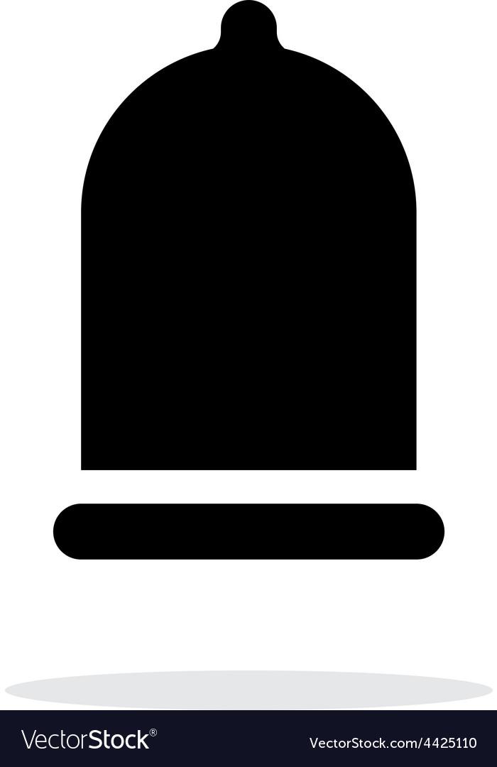 Condom xxl size icon on white background vector | Price: 1 Credit (USD $1)
