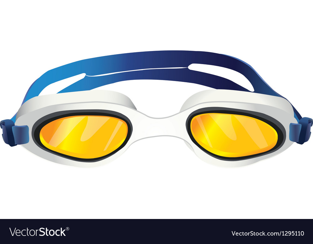 Goggles yellow glass vector | Price: 1 Credit (USD $1)