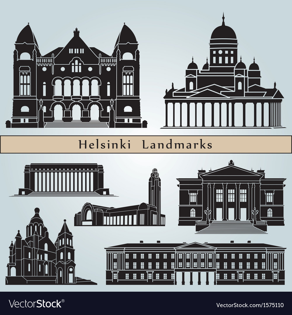 Helsinki landmarks and monuments vector | Price: 1 Credit (USD $1)