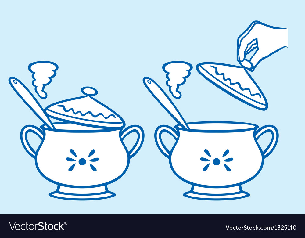 Home kitchen pot vector | Price: 1 Credit (USD $1)