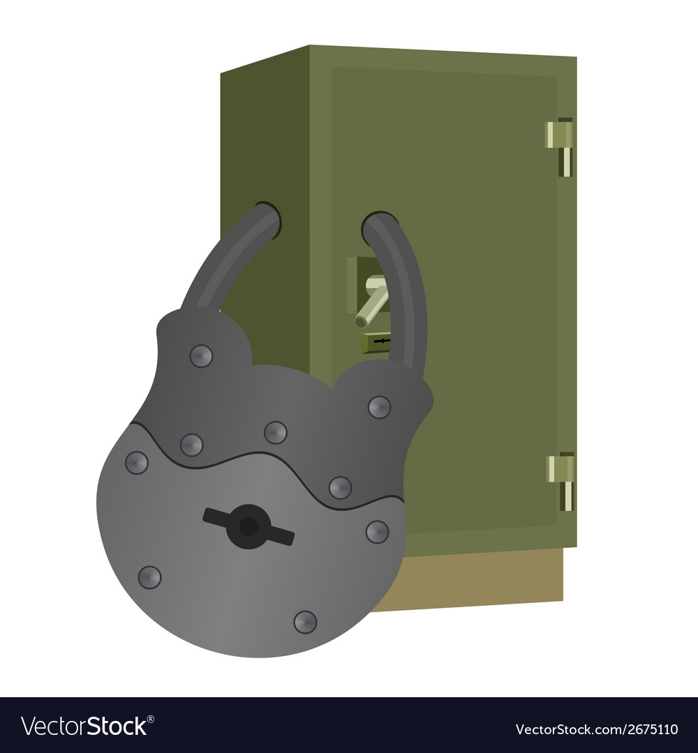 The lock on the safe vector | Price: 1 Credit (USD $1)