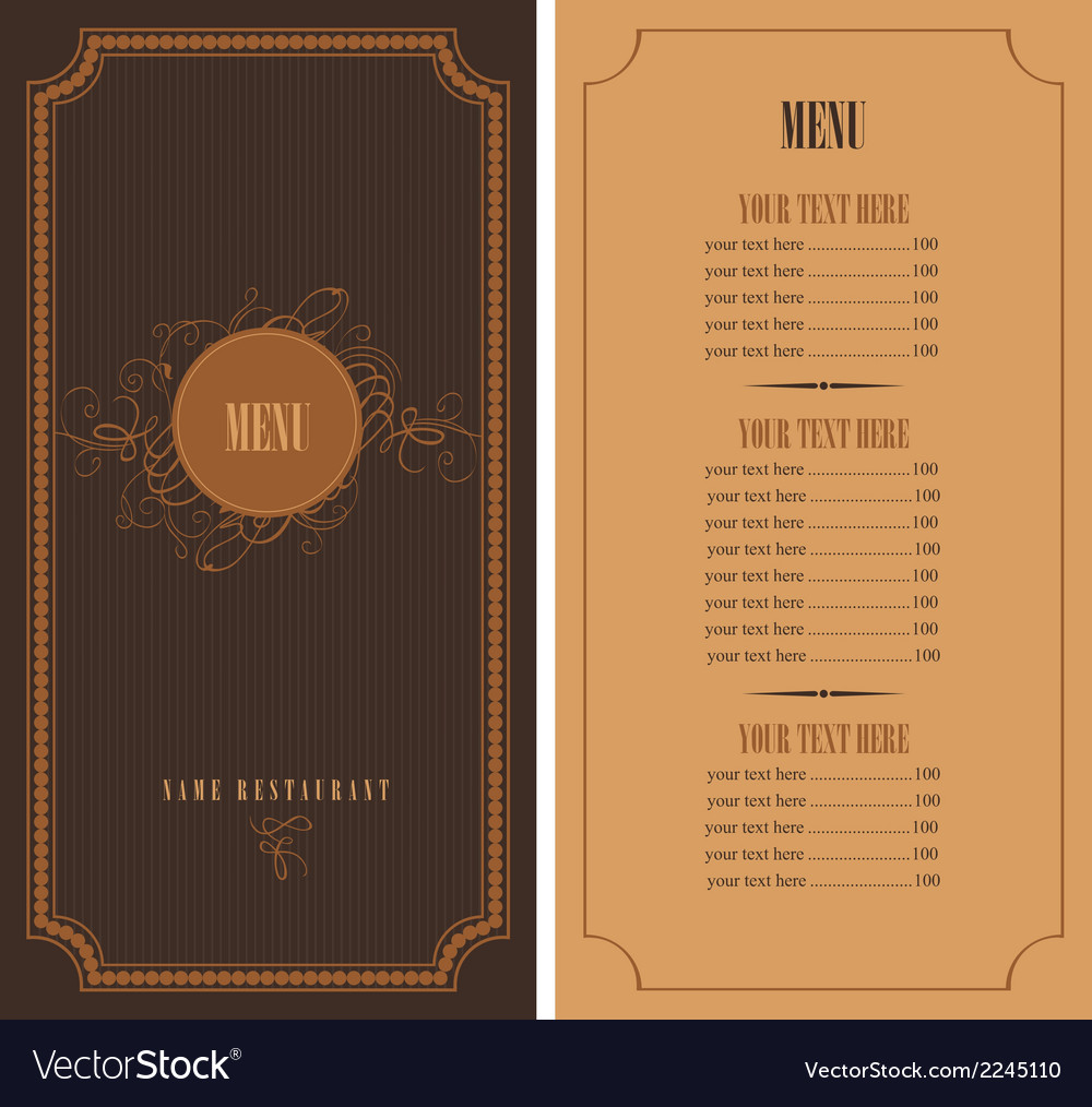 Retro menu vector | Price: 1 Credit (USD $1)