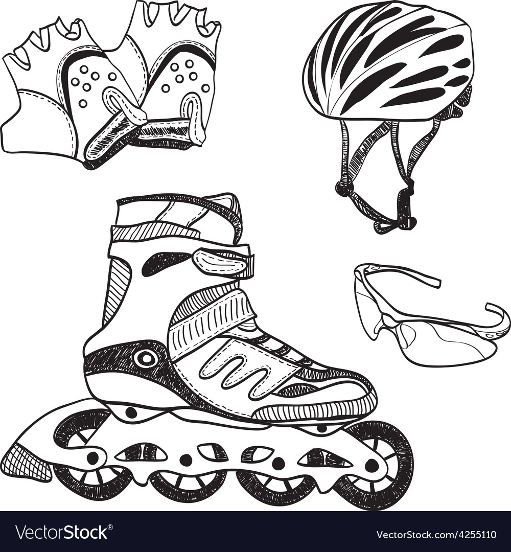Roller skating equipment vector | Price: 1 Credit (USD $1)