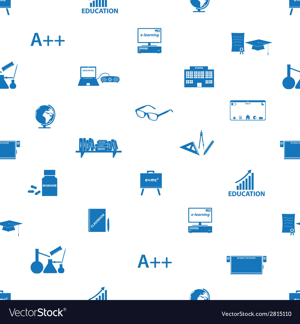 Teacher and teaching icons seamless pattern eps10 vector | Price: 1 Credit (USD $1)