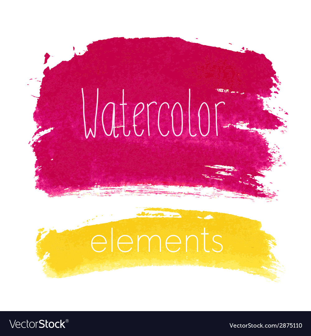 Watercolor bright elements vector | Price: 1 Credit (USD $1)