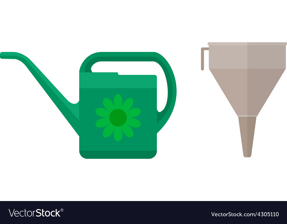 Watering can and funnel vector | Price: 1 Credit (USD $1)