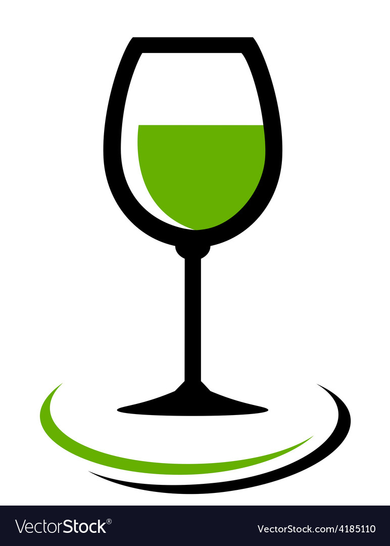 White wine glass icon vector | Price: 1 Credit (USD $1)