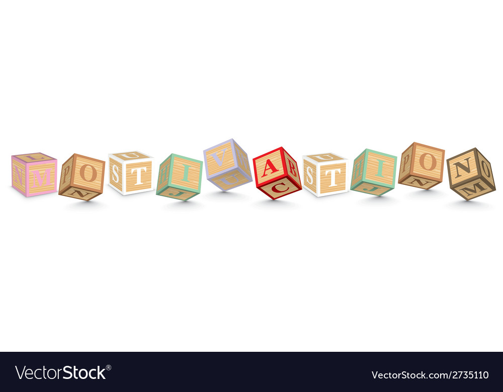 Word motivation written with alphabet blocks vector | Price: 1 Credit (USD $1)