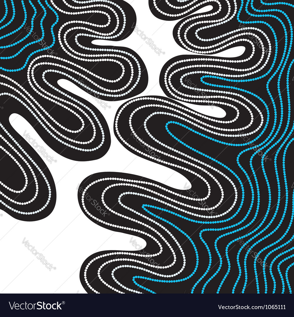 Abstract hand-drawn waves pattern wavy background vector | Price: 1 Credit (USD $1)