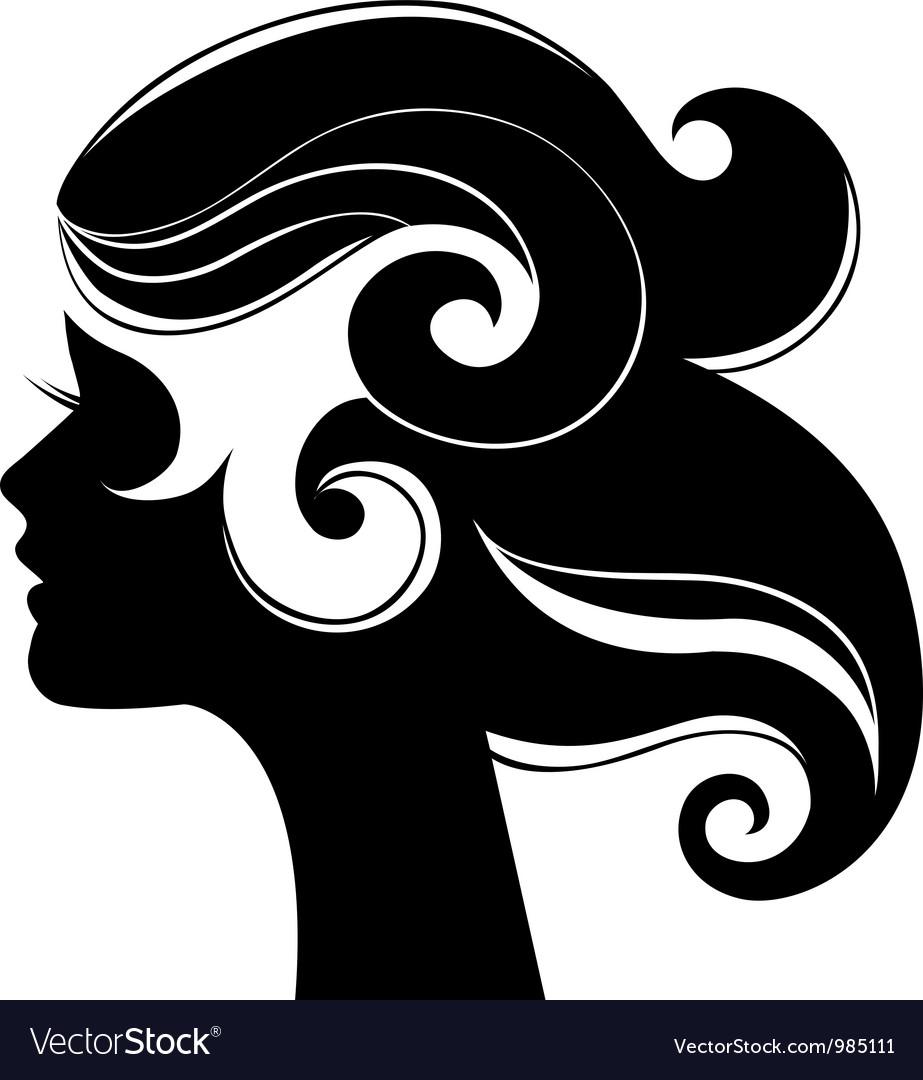 Beautiful woman silhouette vector   Price: 1 Credit (USD $1)