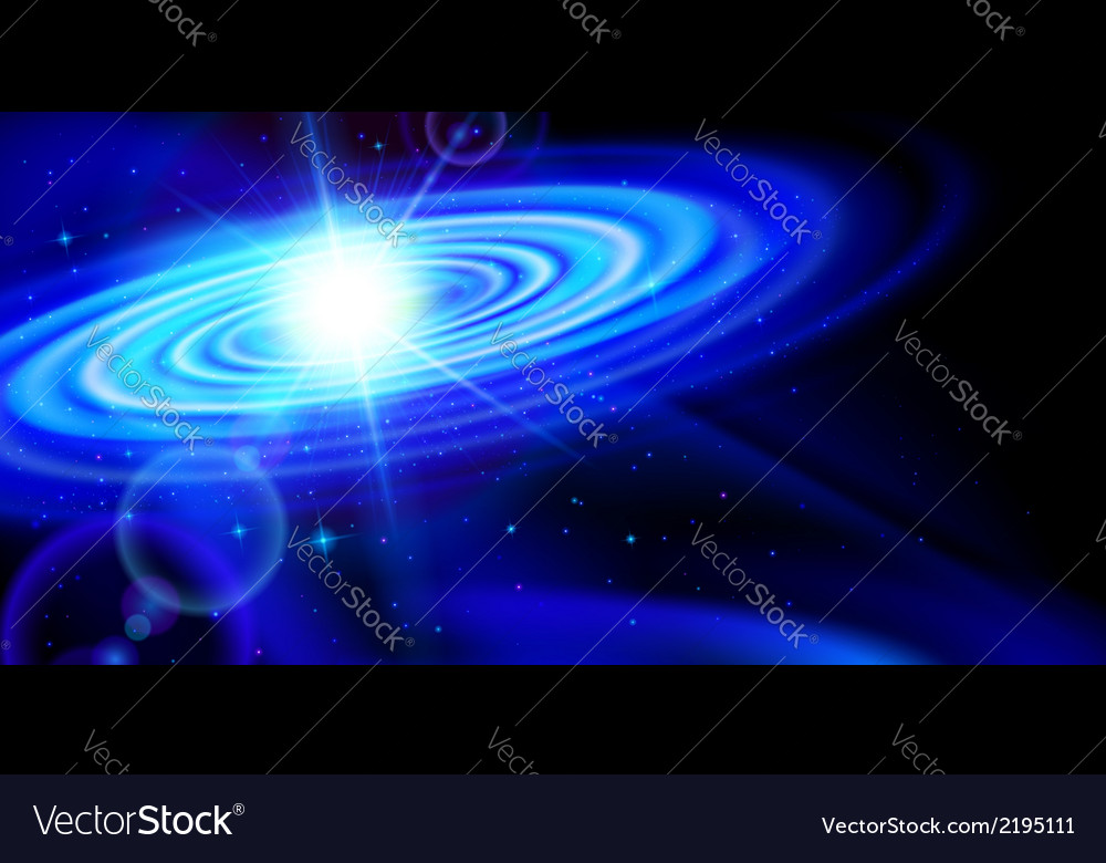 Blue galaxy vector | Price: 1 Credit (USD $1)